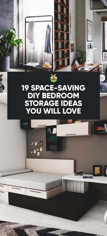 19 spacesaving diy bedroom storage ideas you will love