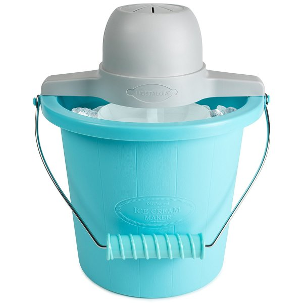 Nostalgia ICMP400BLUE 4-Quart Electric Ice Cream Maker