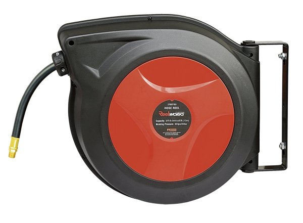 ReelWorks 27807153A Retractable Air Compressor/Water Hose Reel