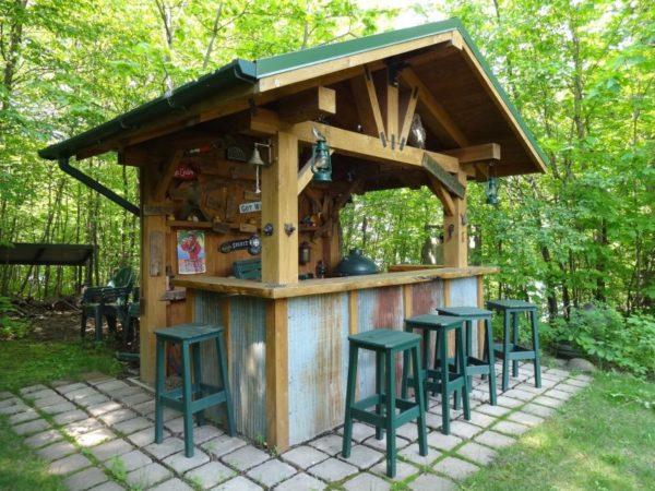100 DIY Backyard Outdoor Bar Ideas to Inspire Your Next ... on Patio With Bar Ideas id=75533