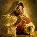 Jesus with Lord's Supper cup