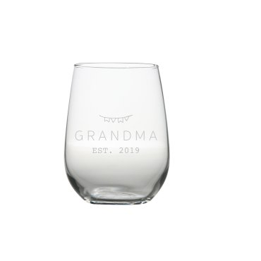 Grandma Est. Wine Glass