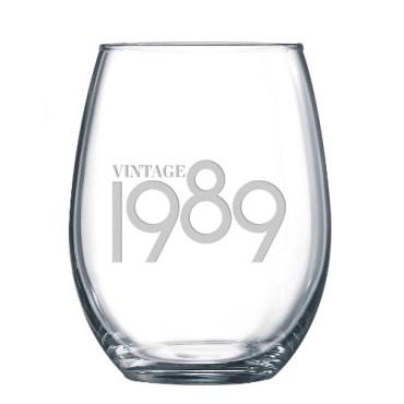 30th birthday glasses vintage 1989