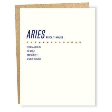 Aries Birthday Cards