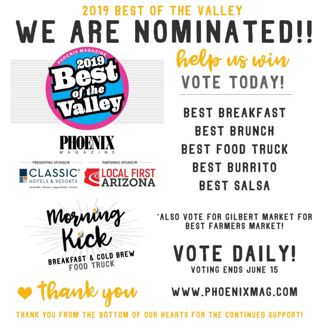 Vote for Morning Kick Phoenix Magazine Best of the Valley 2019