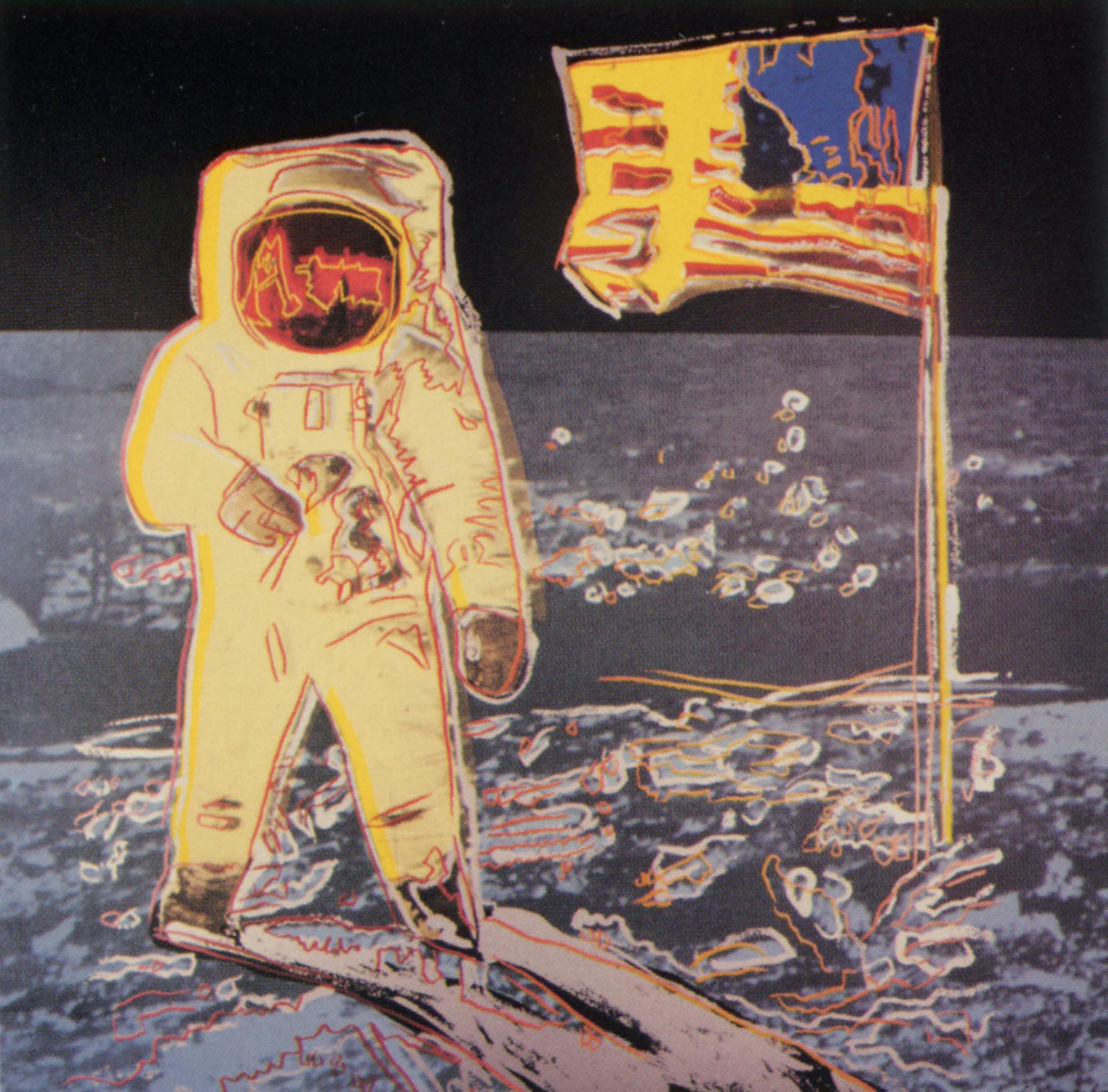 Moonwalk - Andy Warhol, 1987 (d'après une photo de Buzz Aldrin)