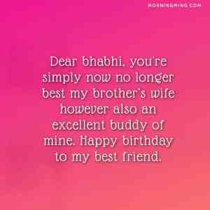 birthday wishes for bhabhi