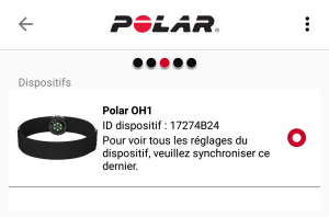 ceinture cardio polar oh1 morning runner