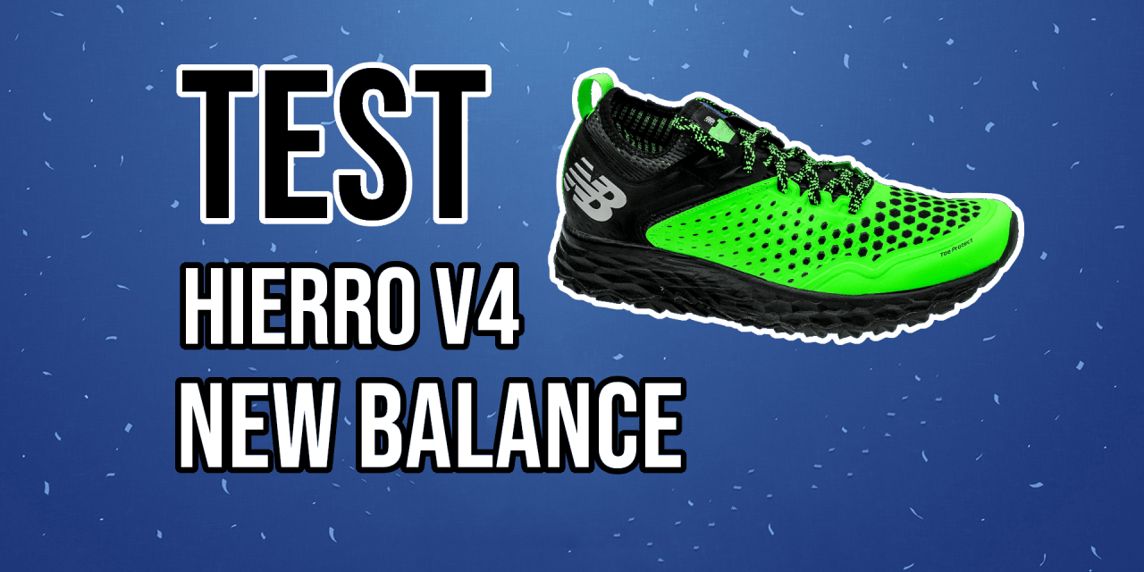 New Balance Fresh Foam Hierro V4 : Confort et accroche