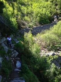 Some very steep cliffs