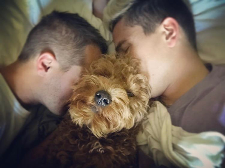 James & Sean with Toby 2