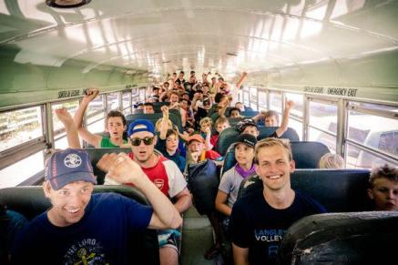 Boys camp bus