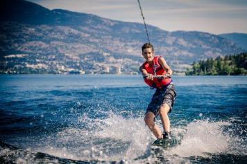 Bryant wakeboarding