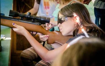 Girls camp riflery