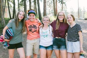 teen girls group shot