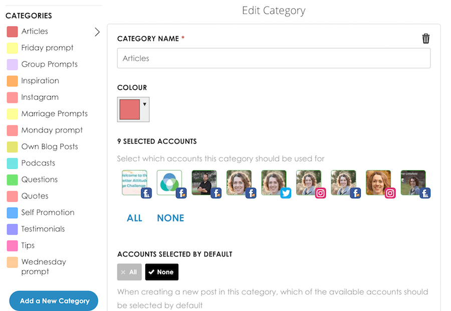 My Favorite Social Media Scheduling Tool - SmarterQueue Content Categories