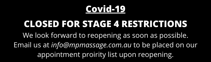 CLOSED FOR STAGE 4 RESTRICTIONS