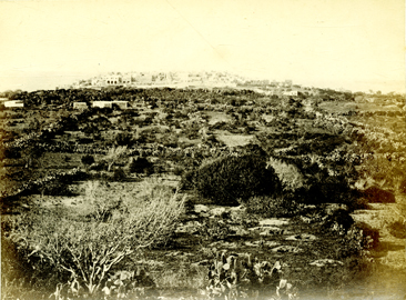 Yâfa, the ancient Joppa, from the West. Photographed by Francis Bedford during the Tour in the East on which by command he accompanied His Royal Highness, The Prince of Wales.