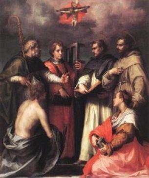 Disputation-over-the-trinity-Andrea-del-Sarto