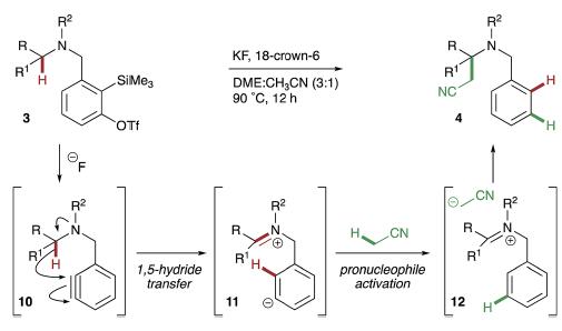 ベンザインの発生と分子内水素引き抜きによるC-H官能基化          ベンザインでC-H官能基化する!?