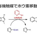 有機触媒でホウ素化:ホウ素が芳香環から芳香環へ移動する!