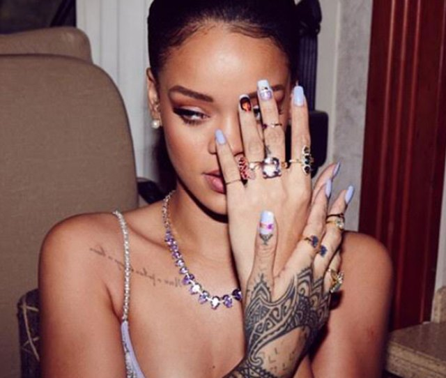 Rihanna Launches A Henna Temporary Tattoo Collection