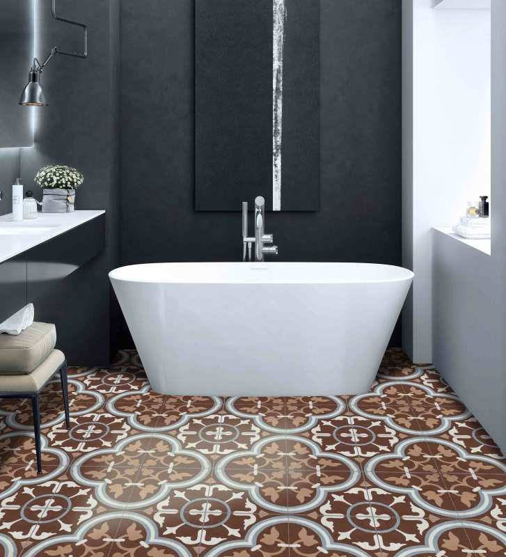 Moroccan Cement Tiles After Cleaning and Maintaining
