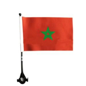 Een marokkaans vlag voor op de fiets