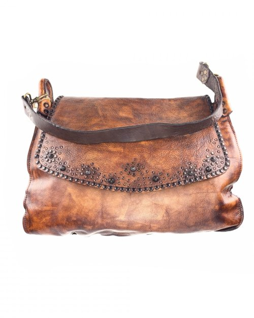 borsa pelle bovina color brandy tinta in capo