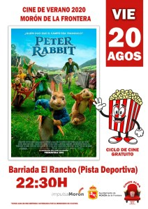 CINE. Peter Rabbit. 20 de agosto. Bda. El Rancho @ Barriada del Rancho