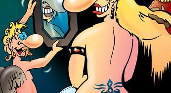 Rubens als Cartoon: Venus vor dem Spiegel