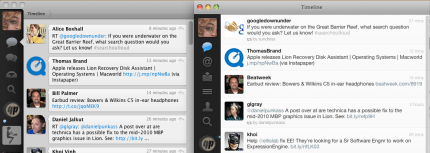 Tweetie and Twitter for Mac