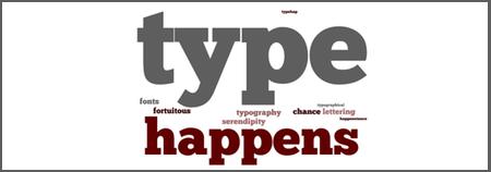 Type happens banner