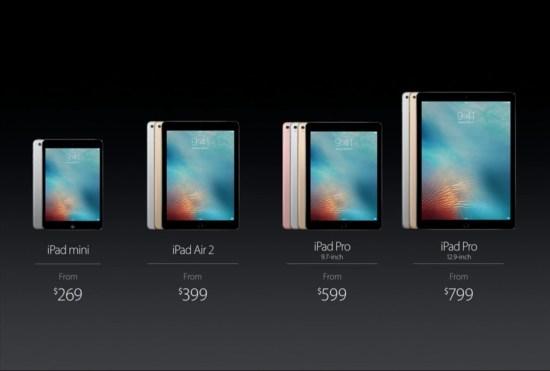 The new iPad line
