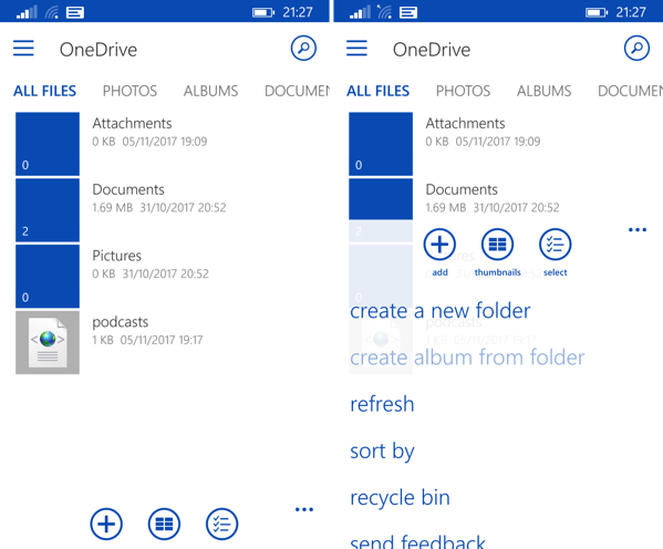 Clear labels in OneDrive