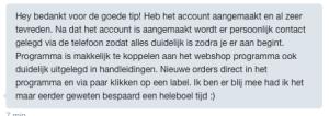 Ervaring SendCloud België van spa-producten.eu