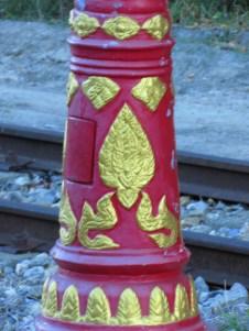 Decorated lamppost, Prachuap Khiri Khan, Thailand
