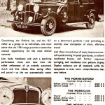 1934 model Morris Big Sixes Advert