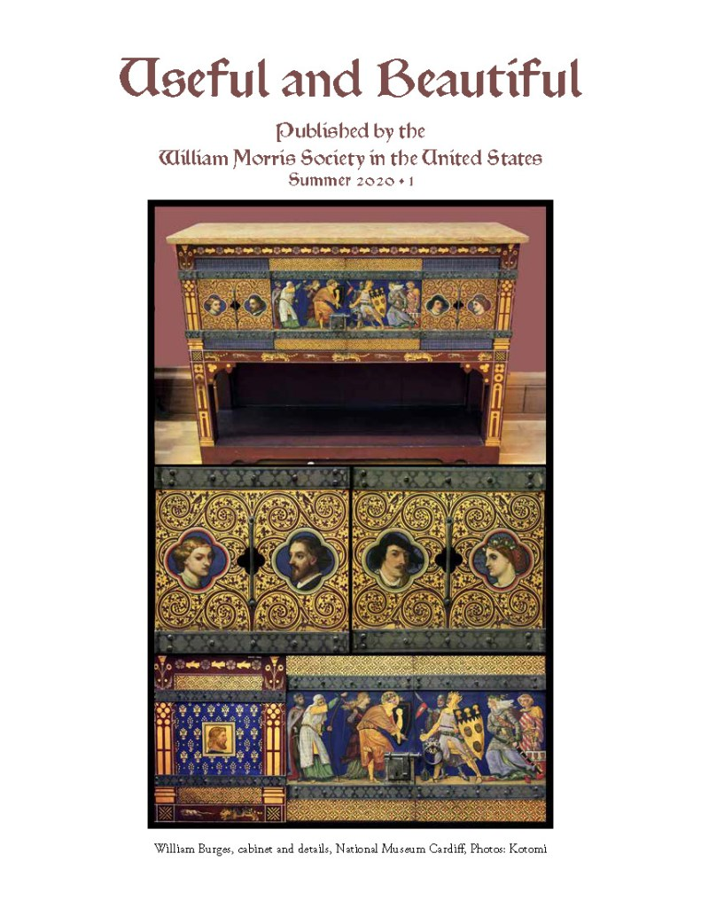 Cover of the Summer 2020 issue of Useful and Beautiful, showing a decorated cabinet.