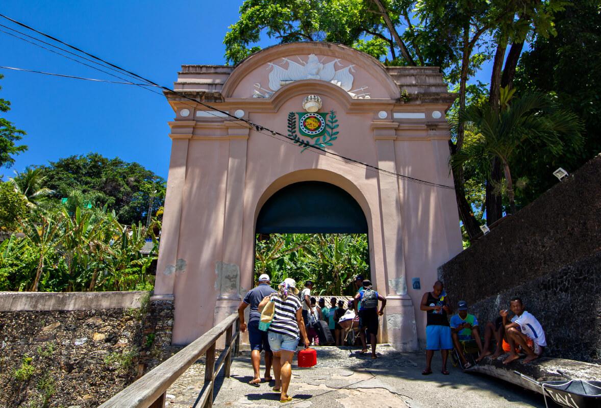 entrada de Morro de São Paulo