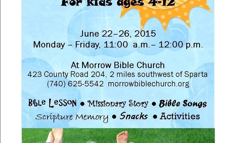 Summertime Bible Club, June 22-26, 2015 | Morrow Bible Church