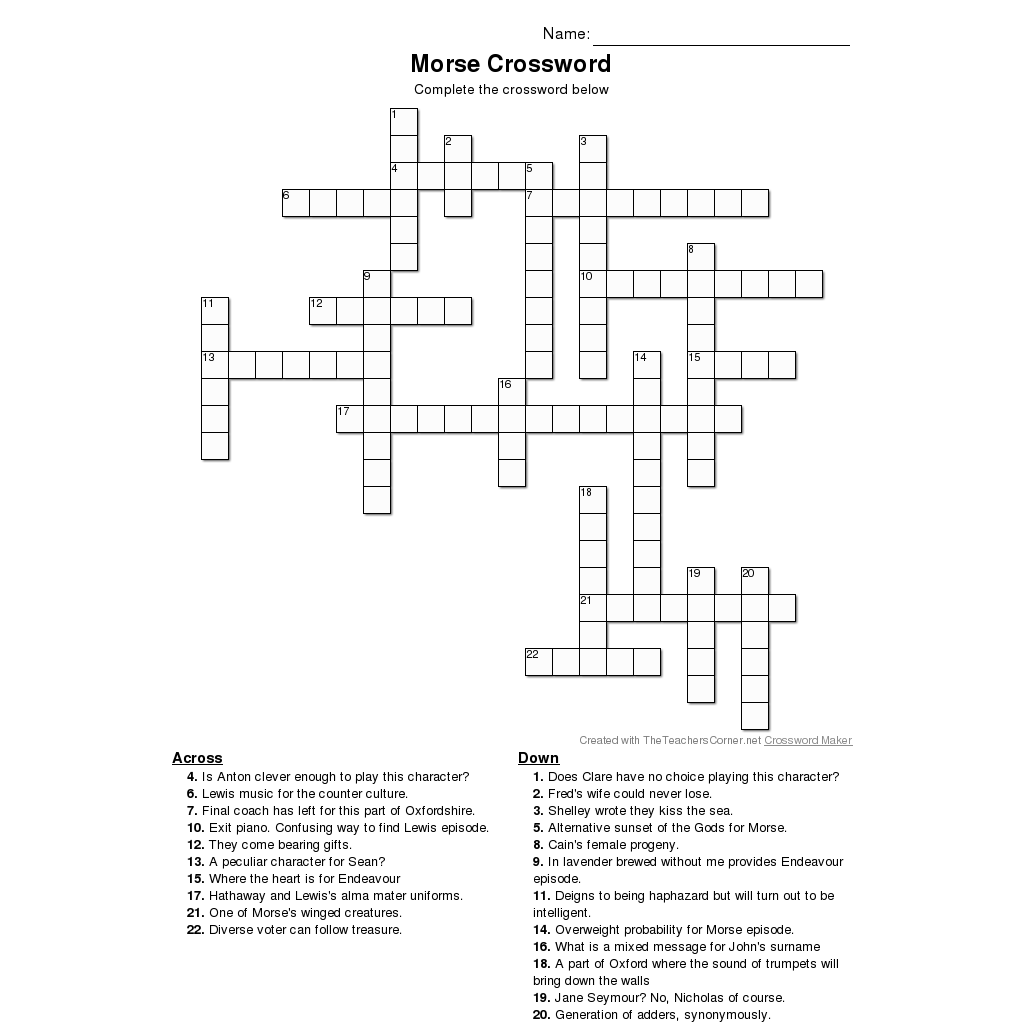 Diagram crossword clue 6 letters online schematic diagram crossword puzzle for morse fans morse lewis and endeavour rh morseandlewisandendeavour com crossword puzzle solver light malvernweather Images