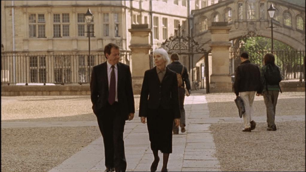 Lewis and Professor Margaret Gold walking through Oxford