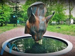 Скульптура рыси в Моршине