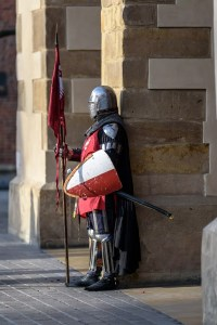 Knight with Banner and Shield