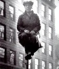 Kelly atop a Flagpole in the 1920's