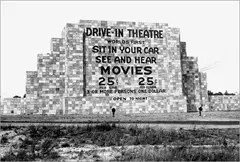 The First Drive In Movie Theater