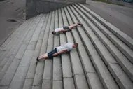 Planking on steps