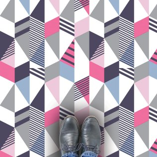 Cibic design as a bespoke vinyl flooring from Mort & Hex and available from For the Floor & More