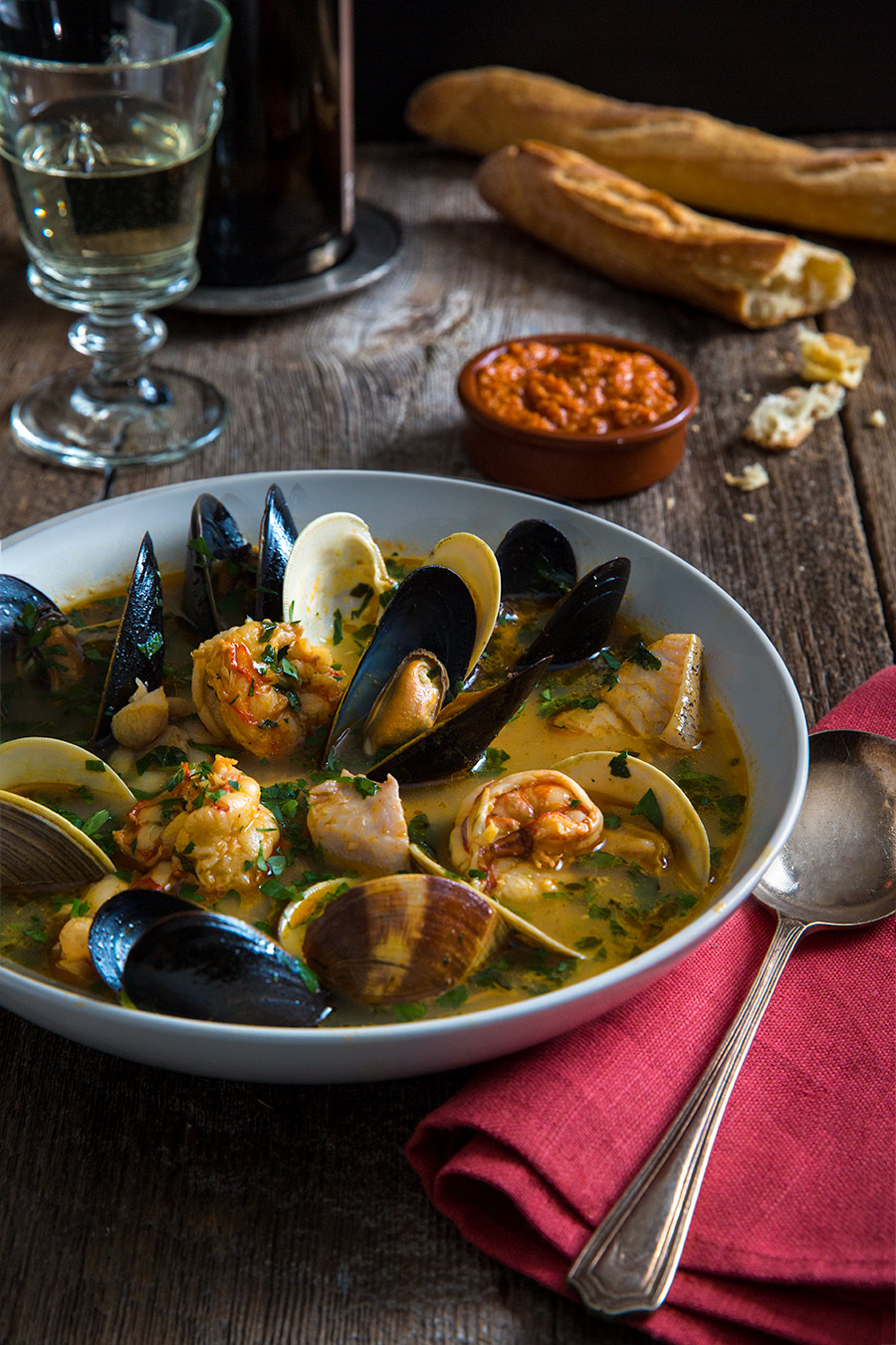 Bouillabaisse recipe and food photography from mortar-and-pestle.ca